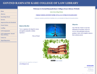 grkarelawlibrary.yolasite.com screenshot