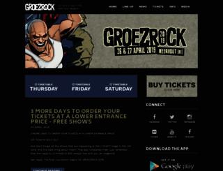 groezrock.be screenshot