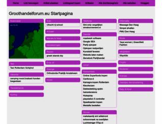 groothandelforum.eu screenshot