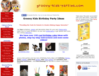groovy-kids-parties.com screenshot