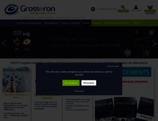 grosseron.com screenshot