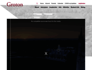 groton.org screenshot