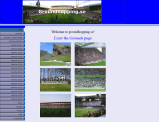 groundhopping.se screenshot