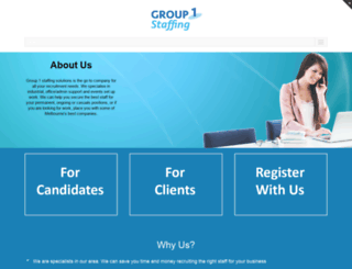 group1staffing.com.au screenshot