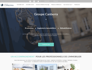 groupe-canberra.fr screenshot