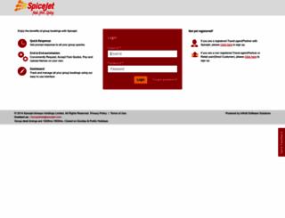 groups.spicejet.com screenshot