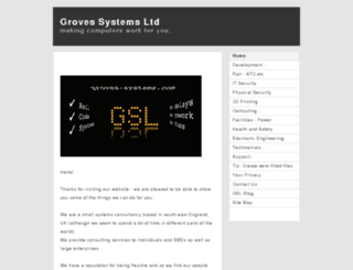 groves-systems.co.uk screenshot