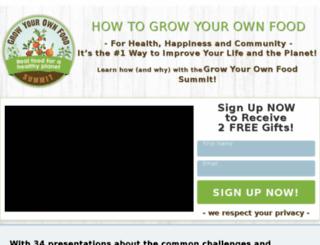 growfoodsummit.com screenshot
