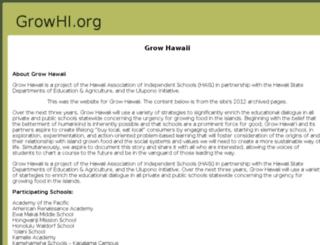 growhi.org screenshot