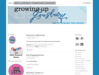 growingupginsburg.com screenshot