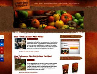 growingveggies.com screenshot