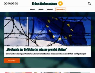 gruene-niedersachsen.de screenshot