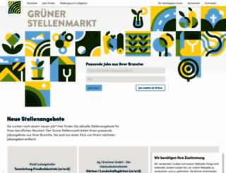 gruener-stellenmarkt.de screenshot