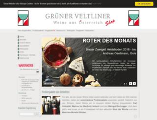 gruener-veltliner.de screenshot