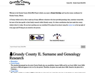 grundy.illinoisgenweb.org screenshot