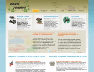 grupodesguaces.com screenshot