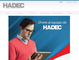 grupohadec.com screenshot