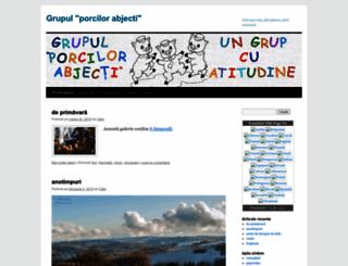 grupulporcilorabjecti.wordpress.com screenshot