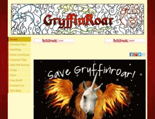 gryffinroar.com screenshot