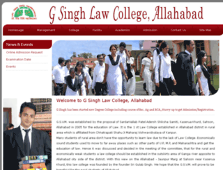 gsinghlawcollege.ac.in screenshot
