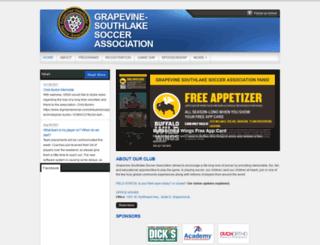 gssasoccer.org screenshot