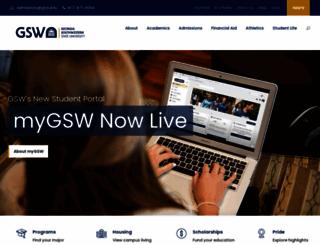 gsw.edu screenshot