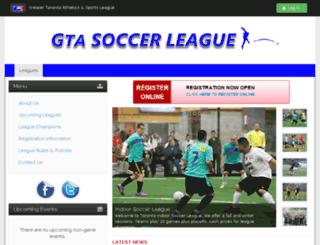 gtasoccerleague.com screenshot