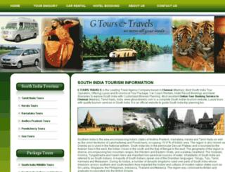 gtourstravels.com screenshot