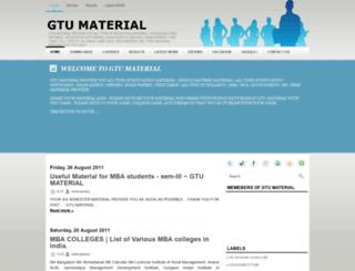 gtu-material.blogspot.com screenshot