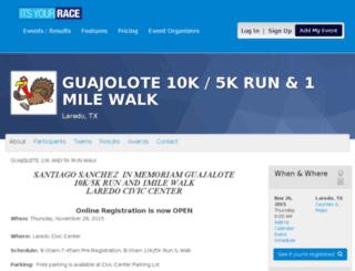 guajolote10kand5krunwalk.itsyourrace.com screenshot