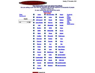 guaranteedcars.com screenshot