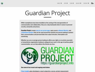 guardianproject.info screenshot