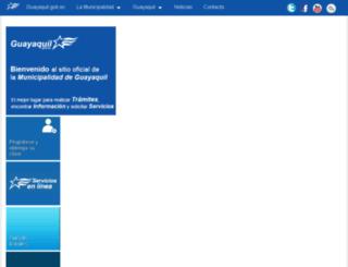 guayaquil.gov.ec screenshot