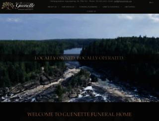 guenettefuneral.com screenshot