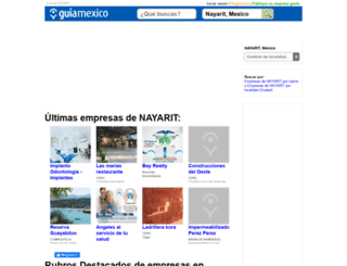 guia-nayarit.guiamexico.com.mx screenshot