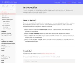 guide.meteor.com screenshot