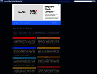 guides.gamercorner.net screenshot