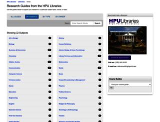 guides.highpoint.edu screenshot