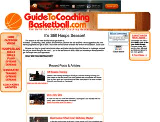 guidetocoachingbasketball.com screenshot