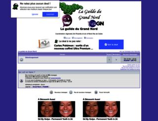 guildegrandnord.1fr1.net screenshot