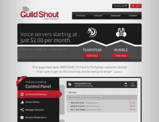 guildshout.com screenshot