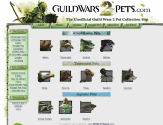 guildwars2-pets.com screenshot