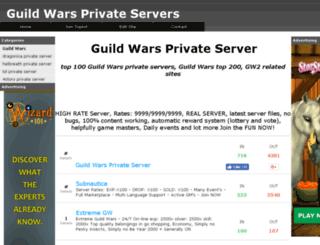 guildwarsservers.com screenshot