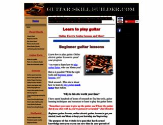 guitar skill buildercom screenshot