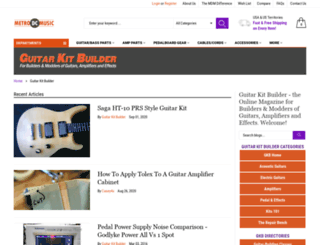 guitarkitbuilder.com screenshot