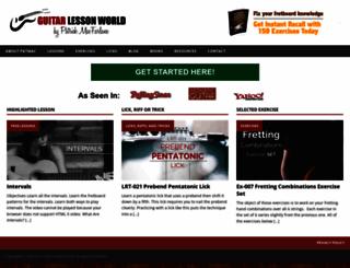 guitarlessonworld.com screenshot