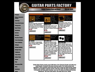 guitarpartsresource.com screenshot