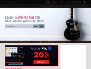 guitarprotabs.org screenshot