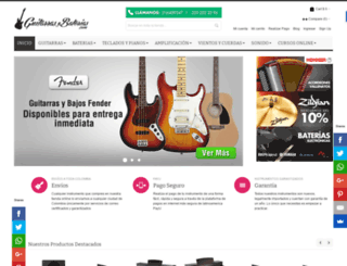 guitarrasybaterias.com screenshot