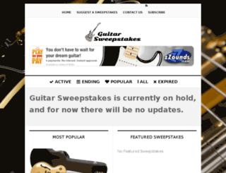 guitarsweepstakes.com screenshot